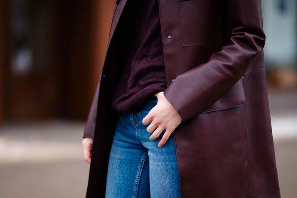 Чистка кожного пальто