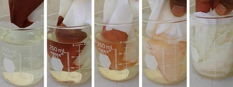 удаление йода с помощью перекиси водорода