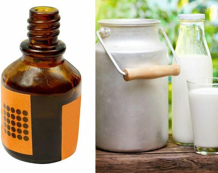 молоко против пятен йода