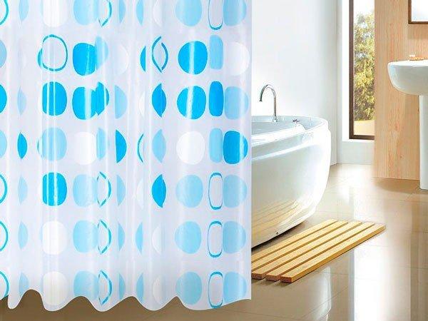 Полиэтиленовая шторка для ванны